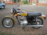 Triumph T120r 1971 650cc