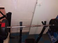 Bench + 72kg 1xbarbell+2xdumbell bars + Abs bench 4 in 1 + Leg Split Training Machine