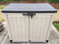 Keter Store It Out Max Outdoor Plastic Garden Storage Shed. Fully built and ready for delivery!