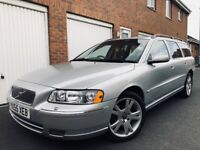 2005 55 Volvo V70 2.4 D5 Manual++Full MOT+Serviced+Full Volvo S/H+Estate not v50 s40 530d s60 t5 3.0