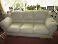 3 seat Leather settee -- FREE to take away