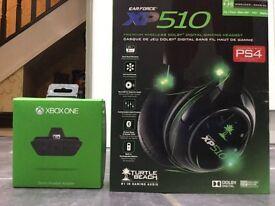 Ear force xp510 turtle beach wireless ear phones, Xbox one stereo headset adapter