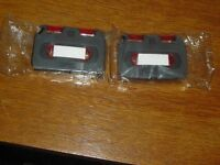 TWO NEW, SINGLE STRIKE RED RIBBON CASSETTES ZX-2T5YRD FOR SHARP WORD PROCESSOR