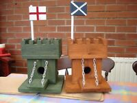 English & Scottish flagged bird box castles