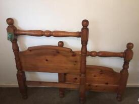 Large solid wood single bed