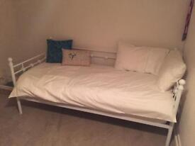 Single Metal Frame Day Bed with Mattress