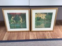 John Lewis Two Gold Frame Pictures