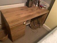Wood effect desk!