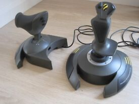 Thrustmaster Top Gun Afterburner II joystick games controller with 2 Flight Simulator games disks