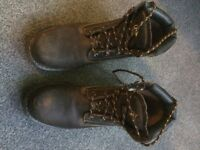 Dunlop Safety Boots Brown Size 7