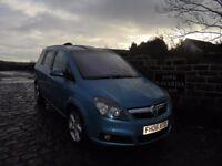 Vauxhall Zafira SRi CDTi Diesel 7 Seats In Blue, 2006 06 reg, One Owner/Supply Dealer