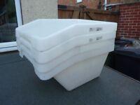 4x large, angled storage tubs