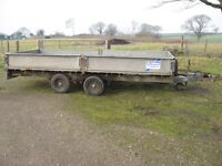 Ifor Williams Trailer dropside 14 x 6.5 good condition recent tyres pin hitch
