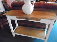 Solid wood side/console table/unit
