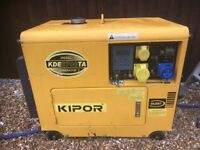 I have 2 kipor 6kva silent deisel generators in exelet condition key start£1000 for both or£550 each