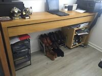 Large desk with large storage drawer, great for working on and storing ties and accessories