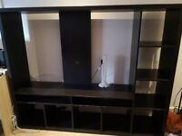 IKEA LAPPLAND TV storage unit, black-brown