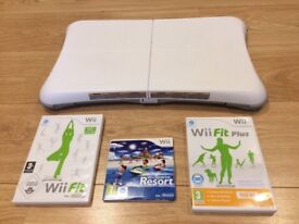 Nintendo Wii Fit Balance Board and Three Games