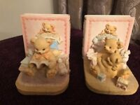 Delightful Teddy Bear Bookends in excellent condition