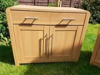 Hygena Strand 2 Door 1 Drawer Sideboard - Oak Effe