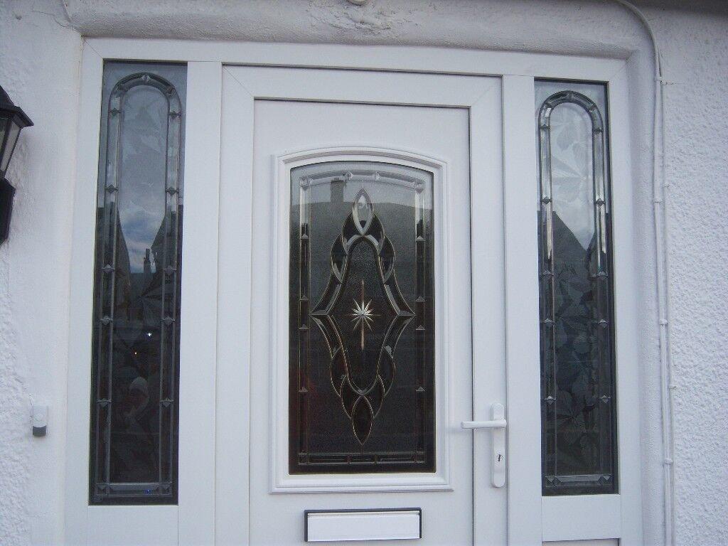 Front door panel doors windows for sale gumtree two white upvc doors front door with feature glass panel no frame rubansaba