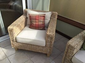 Banana Leaf Conservatory Sofa and Chairs Set