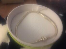 Chamilia silver snap charm bracelet (brand new boxed)