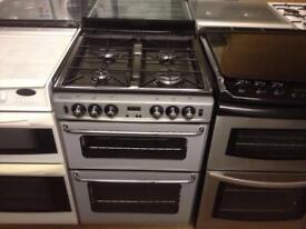 Newhome 60cm gas cooker with glass lid