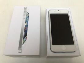 iPhone 5 White 16GB Unlocked - Boxed in good condition but could do with new battery