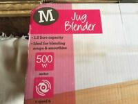 Morrisons jug blender brand new in box 1.5 litre £10