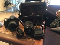 Sony alpha digital slr camera with original lens and Tamron AF 70-300mm f/4-5.6 Di LD Macro lens