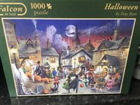 Various good quality jigsaws. Scenes such as Halloween, Christmas and shopping
