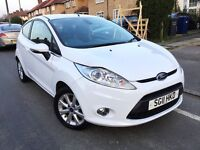 2011 FORD FIESTA 1.2 ZETEC 3DR,38000 MILES ONLY,WHITE COLOUR WITH LOW MILES AT BARGAIN PRICE.