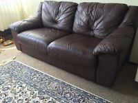 Leather sofa 3seater+2seater