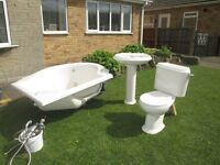 White Bathroom Suite for sale