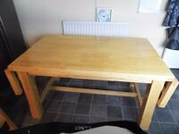 Large Butchers Block Style Dinning Table.