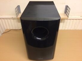 Onkyo Home Cinema Active Subwoofer, High Quality deep Bass Reflex Sound, Fully Working Condition.