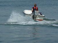 Orkney 315 Dory, 15hp Honda 4 stroke elec. start O/B, wheel steering, Ultralflex engine control