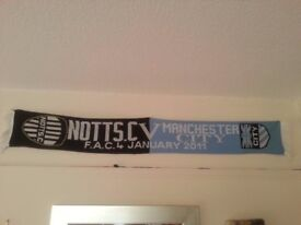 Notts County - Manchester City scarf 2011