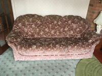 Three Seater, Two Seater and Footstall, Free to a good home