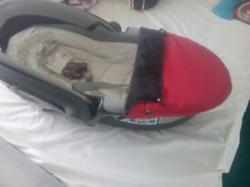 Britax baby safe sleeper lay flat car seat
