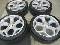 "ford focus st mondeo transit connect 18"" alloy wheels all good tyres"