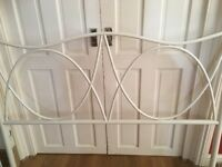 CREAM METAL BED FRAME EXCELLENT CONDITION