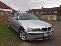 BMW 3 Series 1.8 316i SE 4dr 2003 (53 reg), Saloon 124,000 miles Manual 1796 cc Petrol+MOT May 2017