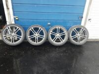 Four genuine Audi twin spoke alloys with new tyres. Excellent condition.