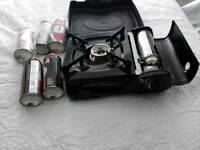 Camping gas stove and gas canisters