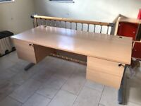 Office desk with 6 drawers