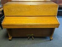 Very Nice Oak 'Knight K10' Compact Upright Piano - CAN DELIVER
