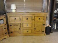 Wooden sideboard, good storage,
