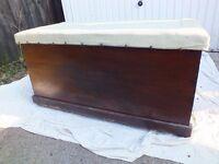 Antique/vintage wooden chest, blanket box, ottoman